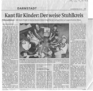 Zeitungsbericht Kant für kinder